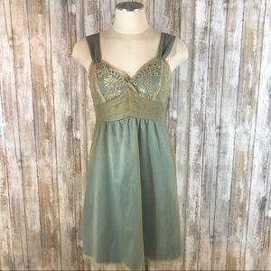 [Left of Center] Elding Lace Tulle Slip Dress